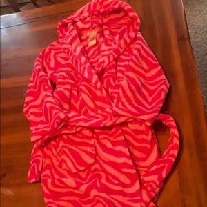 Girls hooded robe.